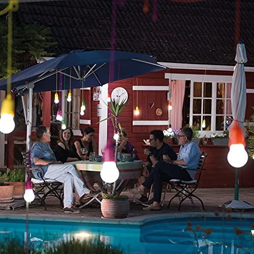 Handy Lux Colors kabellose LED Leuchte in 4 Gehäuse Farben   8 Stück Lampen   Safe touch Oberfläche   Bruchfest   Garten, Camping, Party, Kleiderschrank   Das Original aus dem TV von Mediashop - 3