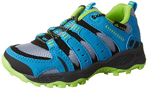 Lico Fremont, Chaussures de Randonnée Basses, Gris (Grau/Blau/Lemon Grau), 35 EU