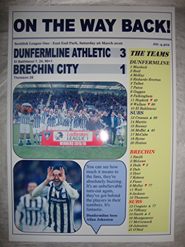 Lilywhite Multimedia Dunfermline Athletic 3 Brechin City 1 - Dunfermline champions - 2016 - souvenir print
