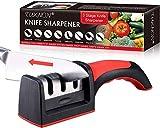 Afilador de Cuchillos,Afilador de Cuchillos Profesional,3 Etapas Knife Sharpener, 3 En 1 Afilador De Cocina Manual, Para Cuchillos Y Tijeras