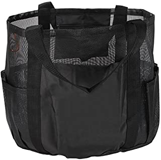 SC Lifestyle All Purpose Bag Tote w/Zipper Pocket & Carabiner- Use As A Beach Bag or Grocery Bag