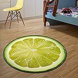 sxh2818517 Alfombra de Frutas cálidas para el hogar Alfombra para niños sentados Alfombra de Cocina Redonda con impresión 3D Alfombra Suave para Alfombra de hogar y jardín en AliExpress
