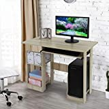 NDGDGA Desktop Computer Desk with Pullout Keyboard Tray, Drawer & Shelve, Modern Laptop Study Writing Table,...