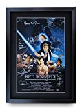 HWC Trading Star Wars Return of The Jedi A3 Enmarcado Regalo De Visualización De Fotos De Impresión De Imagen Impresa Autógrafo Firmado por Los Aficionados Al Cine
