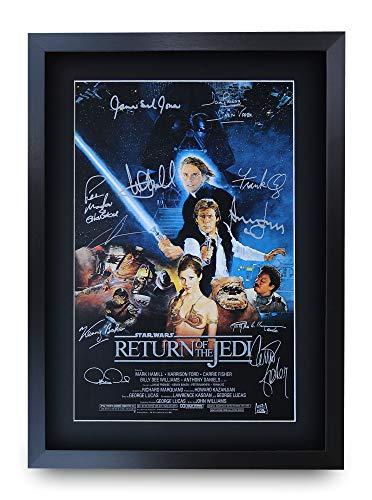 HWC Trading Star Wars Return of The Jedi A3 Gerahmte Signiert Gedruckt Autogramme Bild Druck-Fotoanzeige Geschenk Für Filmfans