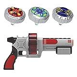OBEST Peonzas con Lanzador Juguetes Conjunto, 3 Gyro Spinnings de Metal y Launcher de...