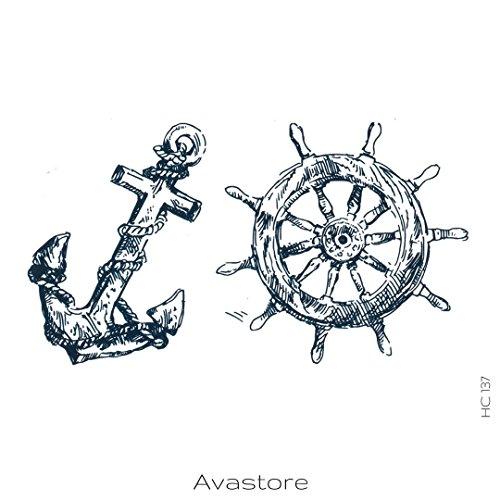 Tatuaggio Temporaneo marino Ancora Nave avastore