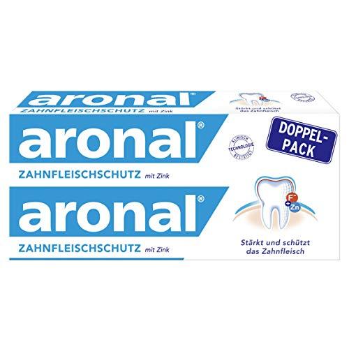 Elmex aronal Zahnpasta Zahnfleischschutz, Doppelpack (2 x 75 ml) - Zahncreme stärkt und schützt das Zahnfleisch, schützt wirksam vor Karies