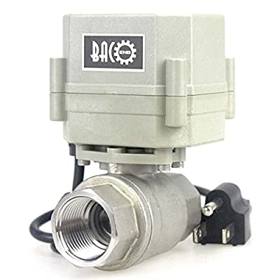 """BACOENG 3/4"""" 110V/220V NC Motorized Ball Valve, NO/NC 2/3 Way Brass/SS 1/2""""-1"""" Available by BACO ENGINEERING"""