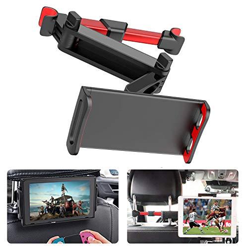 Zommuei Soporte Tablet Coche, Soporte Reposacabezas Asiento Trasero para automóvil Soporte de Montaje Extensible para iPad Air Mini 2 3 4, Pad 2018 Pro 9.7, 10.5, Tableta de 4.6in - 10.6in (Rojo