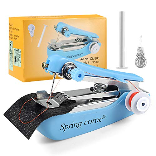 Lansen Mini Handheld Sewing Machine Portable Electric Hand Sewing Machine Quick Repairing Suitable for Home Travel, Clothes, Cloth, Curtain, Pet Clothes