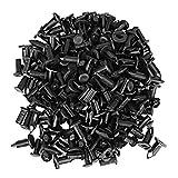 100 Piezas Negro Parachoques de Coche Guardabarros Remaches De Plástico Push Pin Clips Sujetadores Cuerpo de Coche De Plástico Push Pin Rivet