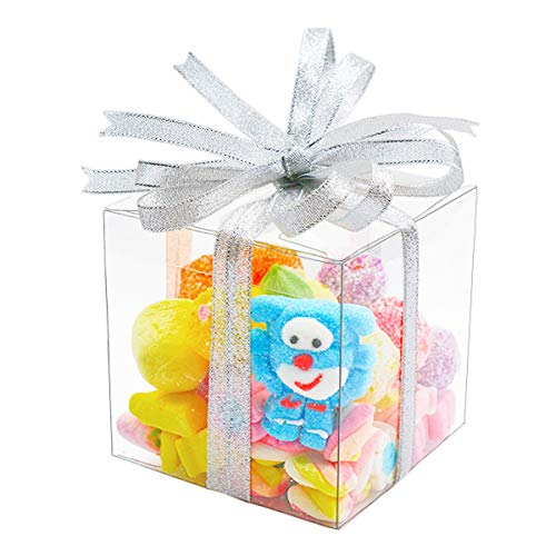 30pcs Clear Boxes for Favors 4x4x4' Transparent Gift box for Cupcake Macaron Candy Cookies Ornament Gifts of Wedding Party Baby Shower, Single Individual Packaging for Display