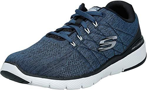 Skechers Flex Advantage 3.0 STALLY Sportschuhe in Übergrößen Blau 52957 BLBK große Herrenschuhe, Größe:49.5