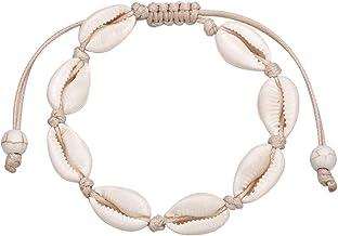 Neu Damen Boho Schale Muschel Fußkettchen Armband Perlen Gewebtes Seil Fußkette