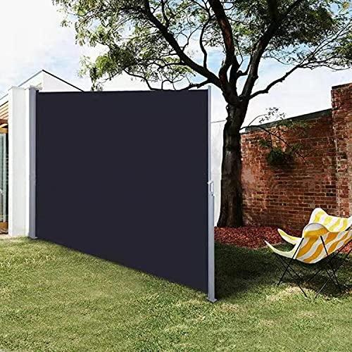 FASSTUREF Toldo Lateral retráctil para Exteriores, Pantalla de privacidad para Patio, cobertizo para toldo de Aislamiento, Parasol para el hogar/Comercial (Color : Black, Size : 180x300cm)