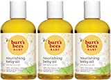 Burt's Bees Baby Oil, Nourishing Skin Care, 100% Natural, 4 Ounce (Pack of 3)