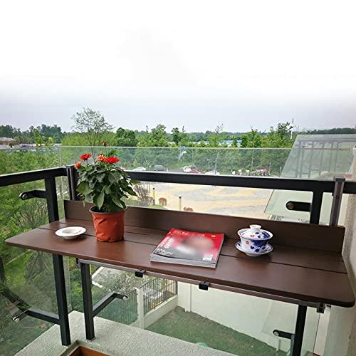 Balcón Plegable Mesa Auxiliar Ajustable para Colgar En La Terraza, Estante para...