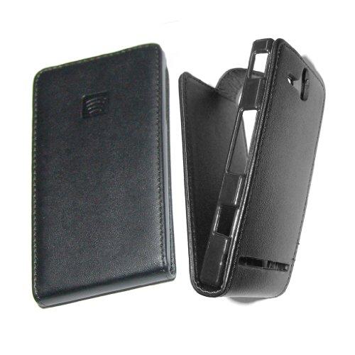 PIEFFELINE Funda en Eco Piel Negra Protector Flip Case para Sony Ericsson...