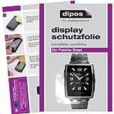dipos I 2X Schutzfolie klar kompatibel mit Pebble Steel Folie Bildschirmschutzfolie