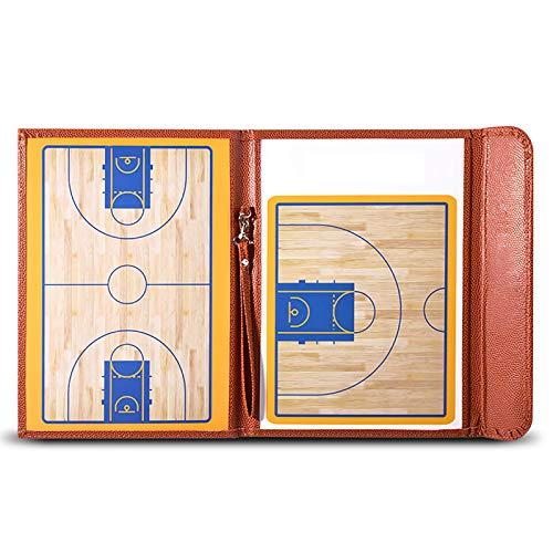 Basketball Trainer Tactics Folder, (mit Magneten/Stiften/Radiergummi) Tragbares Basketball Coaching Board, Professionelles Basketball/Basketball Magnetic Tactics Board Trainingsgerät