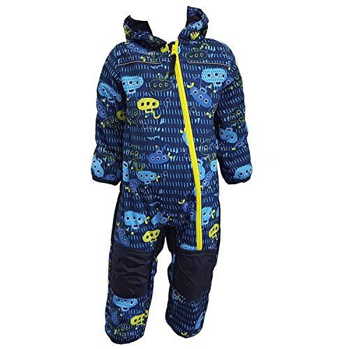 Outburst - Baby Kinder Jungen Softshell-Overall Schneeanzug gefüttert wasserdicht 10.000 mm Wassersäule atmungsaktiv Winddicht U-Boot, blau - 3714278, Größe 104