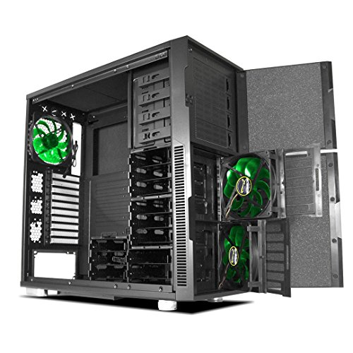 Deep Silence 5 Full Tower E-ATX Case for Sensitive Audio Workstation and Storage Dense Applications, Black
