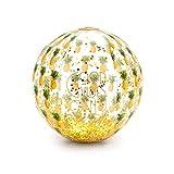 Legami- Palla Gonfiabile con Glitter all'Interno, Tema: Pineapple, Ideale per Giocare sulla Spiaggia, in Piscina e in Giardino, Diametro: 40 cm, PVC, Colore, BB0002