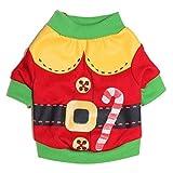Malloom® Cane Gatto Vestiti di Inverno Maglione Caldo Maglieria per Cani Natale Puppy Coat Apparel (Rosso, M)