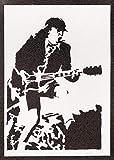 Poster Angus Young AC/DC Grafiti Hecho a Mano - Handmade Street Art - Artwork