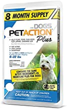 Pet Action Plus for Dogs, 8 Doses - Small: 5–22 lbs