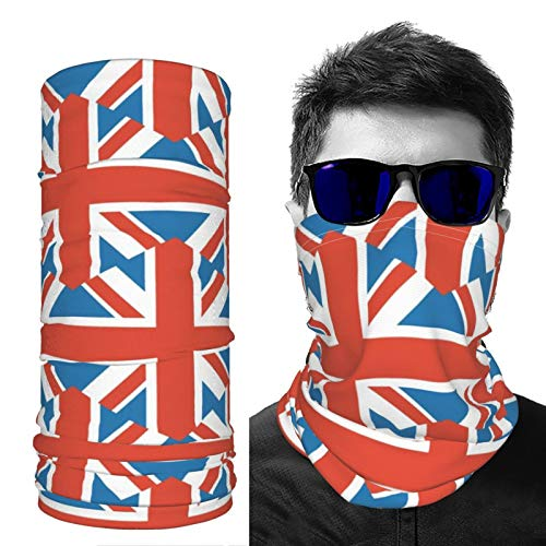 SD3DPrint United Kingdom Flag Unisex Balaclava Face Scarf Headwear Neck Gaiter Dust Mask Sun UV Dust Wind Proof 4 PCS
