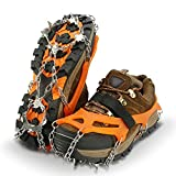 IPSXP Traction Cleats, Ice Snow Grips Crampons for Footwear with 19 Stainless Steel Spikes for Walking, Jogging, Climbing, Hiking on Snow and Ice(XL)