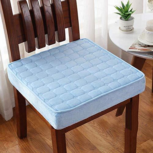 Cojín mecedora Cojín de refuerzo, cojín de silla de peluche extra grueso, cojines de asiento cuadrados con cremallera tatami para carro de oficina extraíble y lavable ( Color : H , Size : 40x40x8cm )