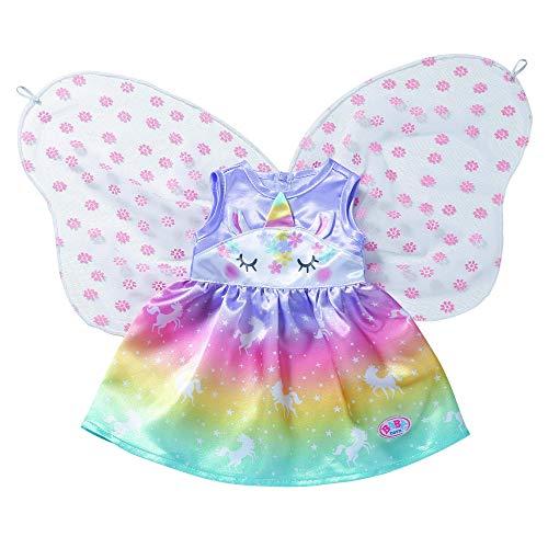 Zapf Creation 829301 BABY born Einhorn Feen Outfit mit Flügeln, Puppenkostüm 43 cm