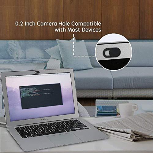 ivoler [6er Set] Webcam Abdeckung, Slider Camera Cover Ultra dünne Webcam Cover Privacy-Schutz Kamera Abdeckung für Laptop, PC, Smartphones, Tablets, etc. - (Schwarz)