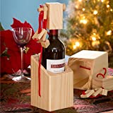 Bits and Pieces - Bewildering Wine Bottle Brainteaser - Wooden Wine Bottle Puzzle - Great Gift for The Wine Lover