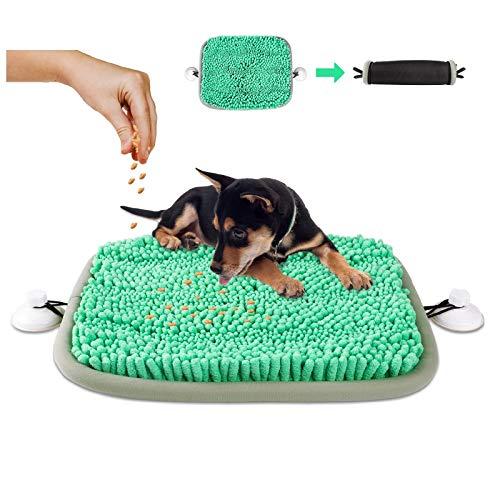 look envy Alfombra Olfativa Perros Snuffle Mat para Perros, Alfombra Interactiva Perros Alimentación de Mascotas con 2 Ventosas