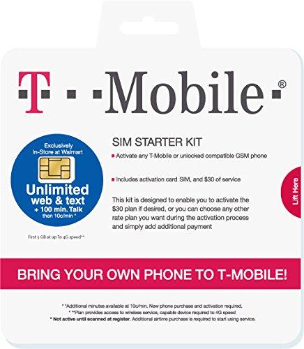 T-Mobile Prepaid SIM-Karte für die USA (50GB), Kanada und Mexiko (5GB insgesamt) 3G/4G/LTE - Unbegrenzte inländische Anrufe und SMS - 30 Tage gültig