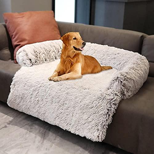 YZBBSH Hundebett Couch für Sofaschutz Hund und Kofferraumschutz, Flauschige Hundedecke, Hundedecke Haustier Super Softe Warme und Weiche Flauschig Fleece für Hundebett Sofa und Couch,Braun,74cm