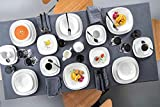 Sänger Geschirrservice 'Bilgola' aus Porzellan 36 teilig - Geschirrset beinhaltet Speise-, Suppen-, Dessertteller, Tassen (175 ml), passende Untersetzer sowie Schalen - Komplettservice für 6 Personen - 7