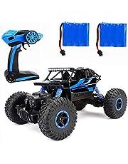 ラジコンカー RCカー 2つのバッテリー 付 2.4GHZ 4WD オフロードリモコンカー ラジコンオフロード 四駆 電動オフロードバギー バギー 男の子向け 乗り越え抜群 子供向け おもちゃ 贈り物