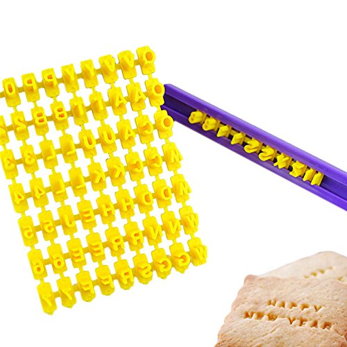 Kuchenform Alphabet Anzahl & Brief Cookie Keks-Stempel Embosser Cutter Fondant, Make DIY Werkzeug jede Nachricht Brief 72pcs