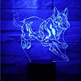 3D Led Nachtlicht Deutscher Schäferhund Mit 7 Farben Licht Für Hauptdekoration Lampe Erstaunliche Visualisierung Optische Täuschung