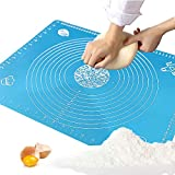 50x40cm(19.7''x15.8'') Non Stick Silicone Baking Mats, Reusable Rolling Pastry Mat,for Heat Resistant Nonskid Placement Mat,Table Place Mats, Countertop Protector, Art and Craft Mat (Blue)
