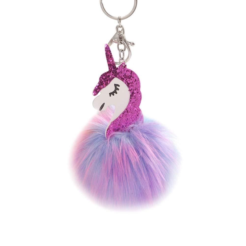Llavero con diseño de unicornio de pelota de colores de Alvade ...