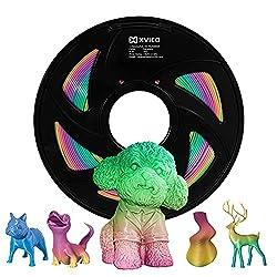 professional Multicolor PLA 3D Printer Filament 1.75 mm, Rainbow, 1 kg (XVICO Pack)