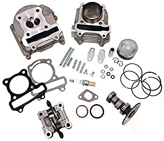 MMG Complete Upgrade Rebuild GY6 Cylinder Kit 100cc - 50mm piston, 70mm EGR Valves for 4 stroke 139QMB 139QMA