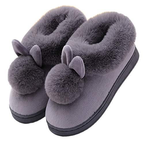 Happyyami Zapatos de Invierno Abrigados Zapatos de Felpa de Interior de Oreja...