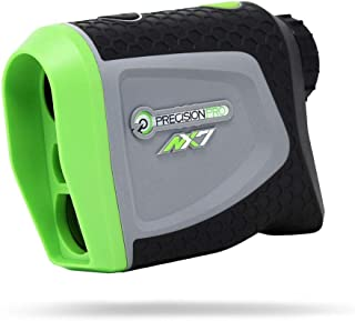 Precision Pro Golf, NX7 Golf Rangefinder, Laser Range Finder with Pulse Vibration, 400 Yard Range, 6X Magnification, Flack Lock, Battery Replacement